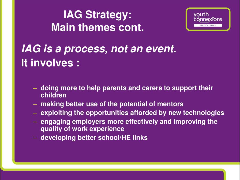 IAG Strategy:
