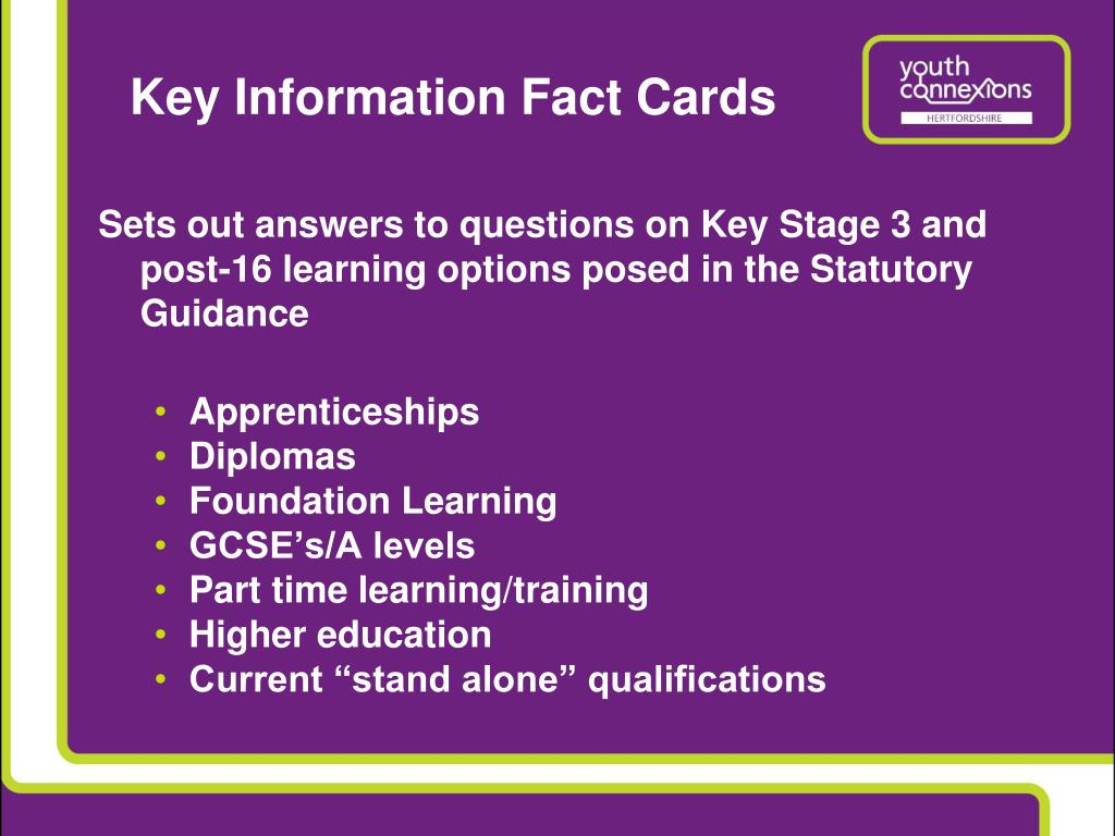 Key Information Fact Cards