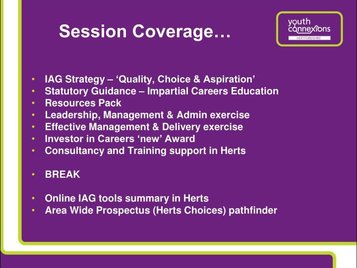 Session coverage