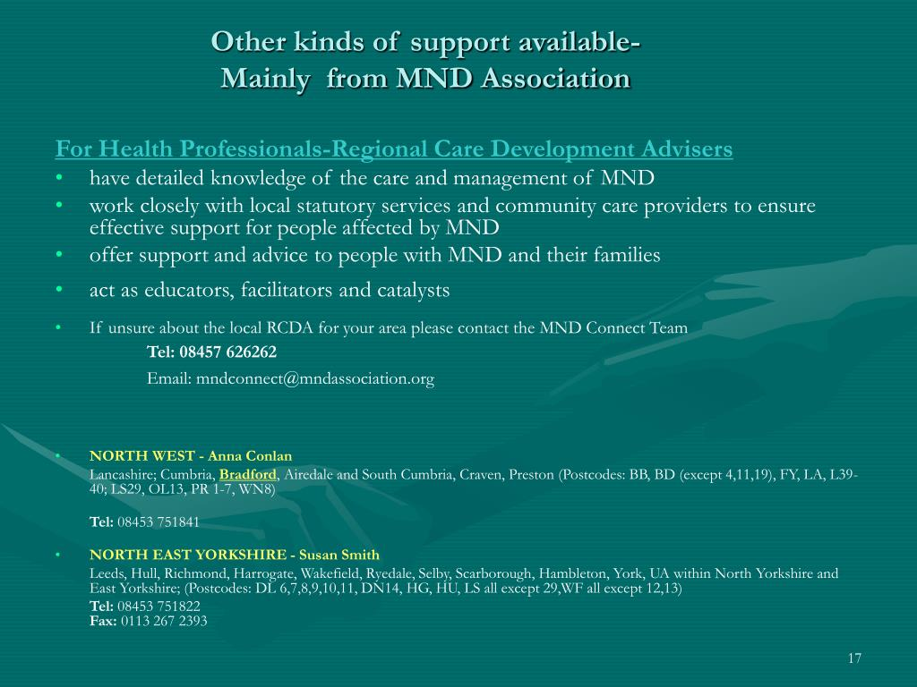Other kinds of support available-