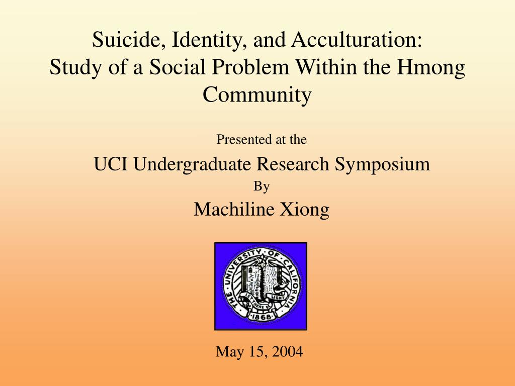 Suicide, Identity, and Acculturation: