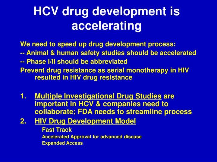 HCV drug development is accelerating