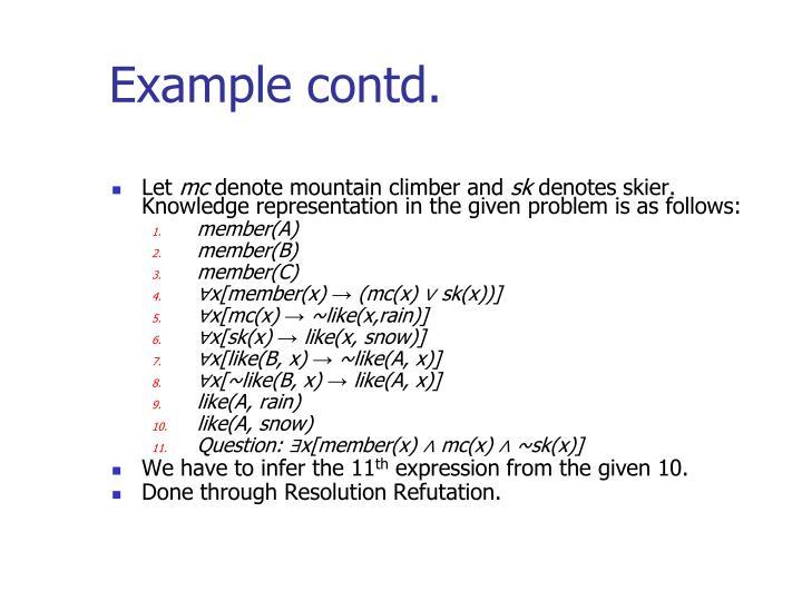 Example contd