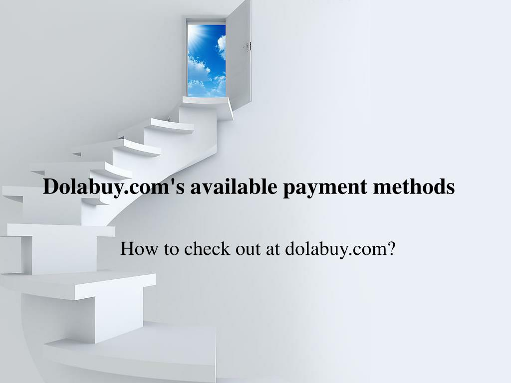 Dolabuy.com's available payment methods