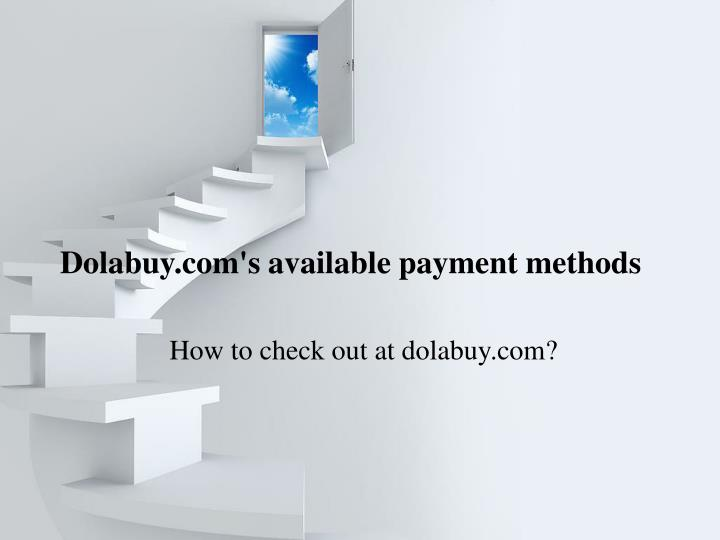 Dolabuy com s available payment methods