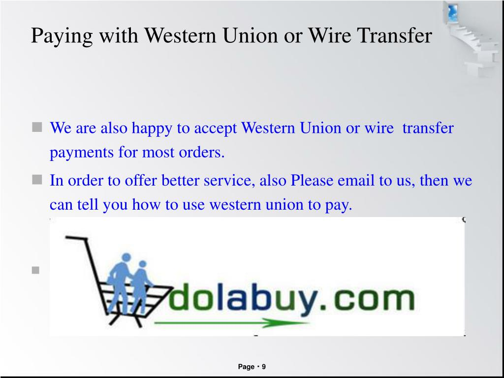 Paying with Western Union