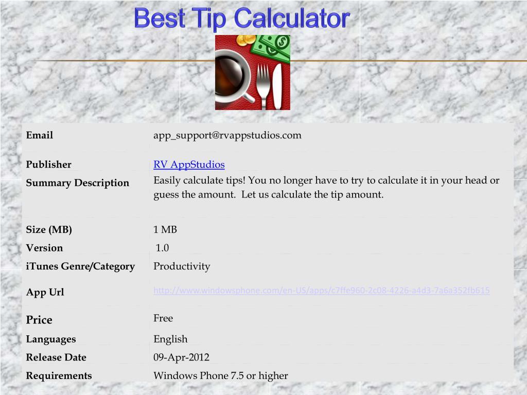 Best Tip Calculator
