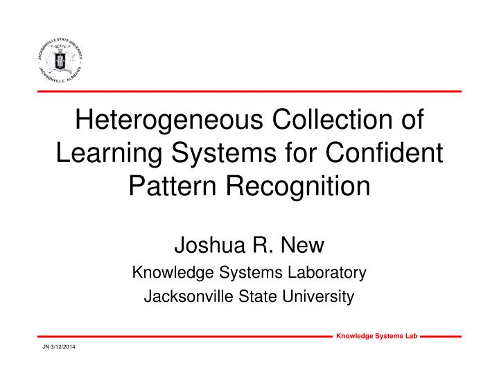 Heterogeneous collection of learning systems for confident pattern recognition