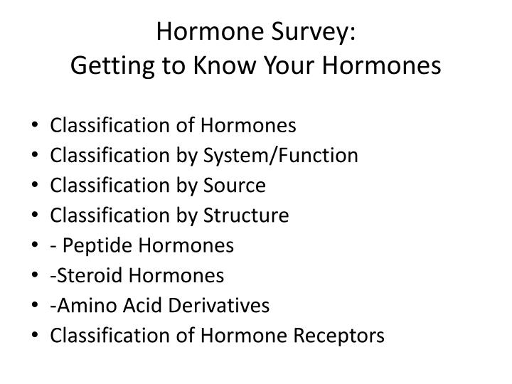 Hormone survey getting to know your hormones