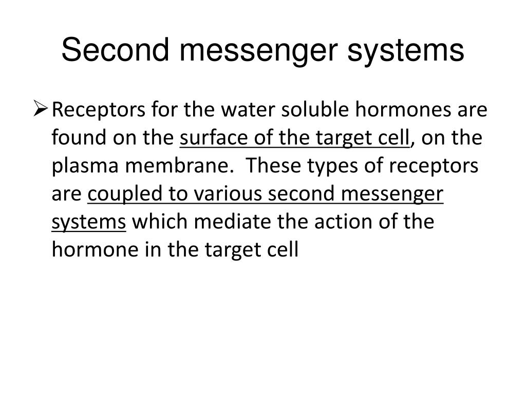 Second messenger systems