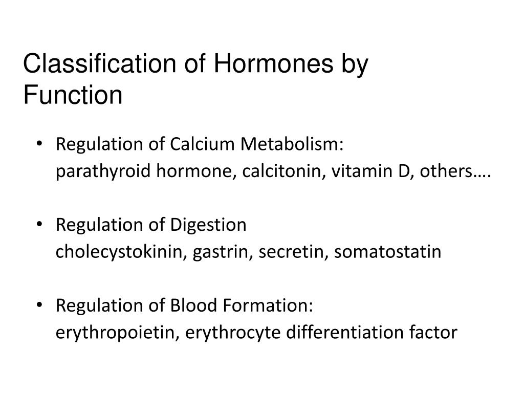 Classification of Hormones by Function