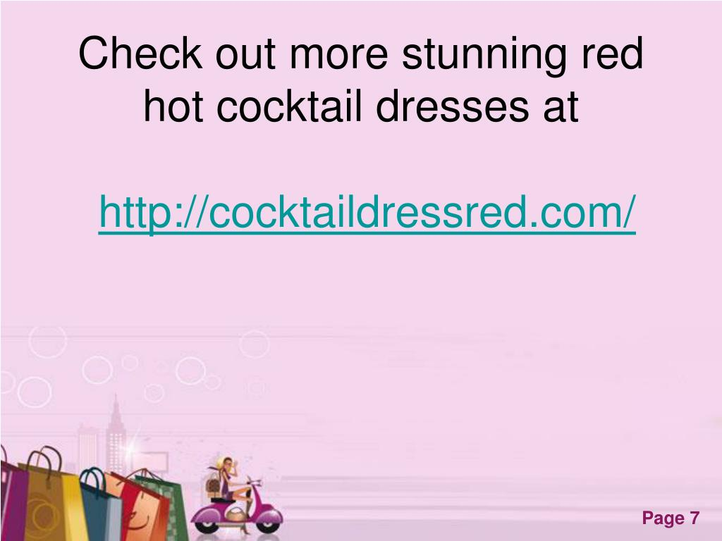 Check out more stunning red hot cocktail dresses at