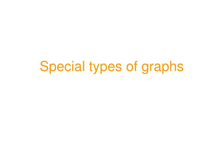 Special types of graphs