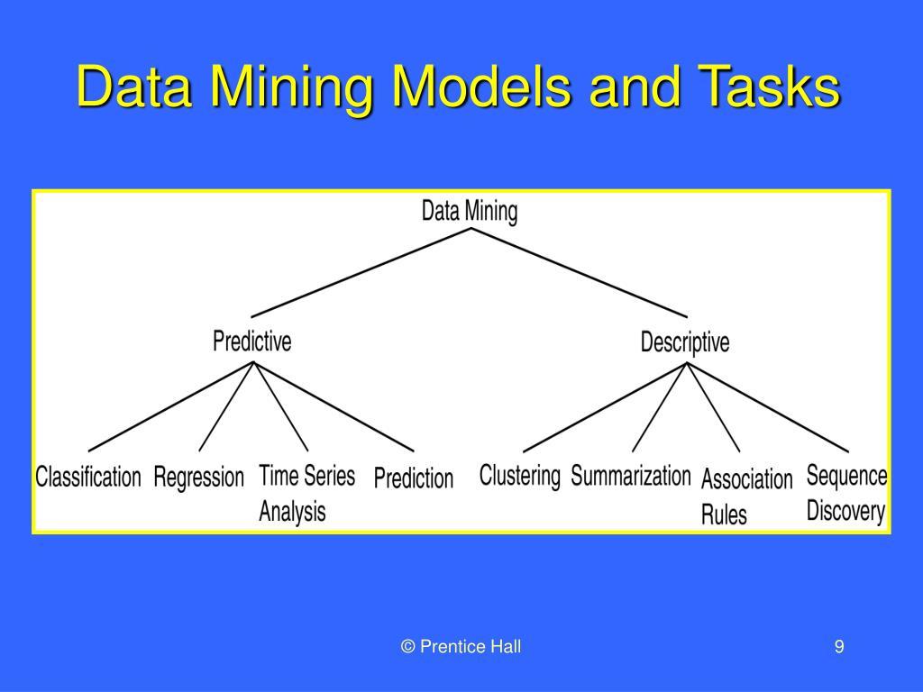 Data Mining Models and Tasks
