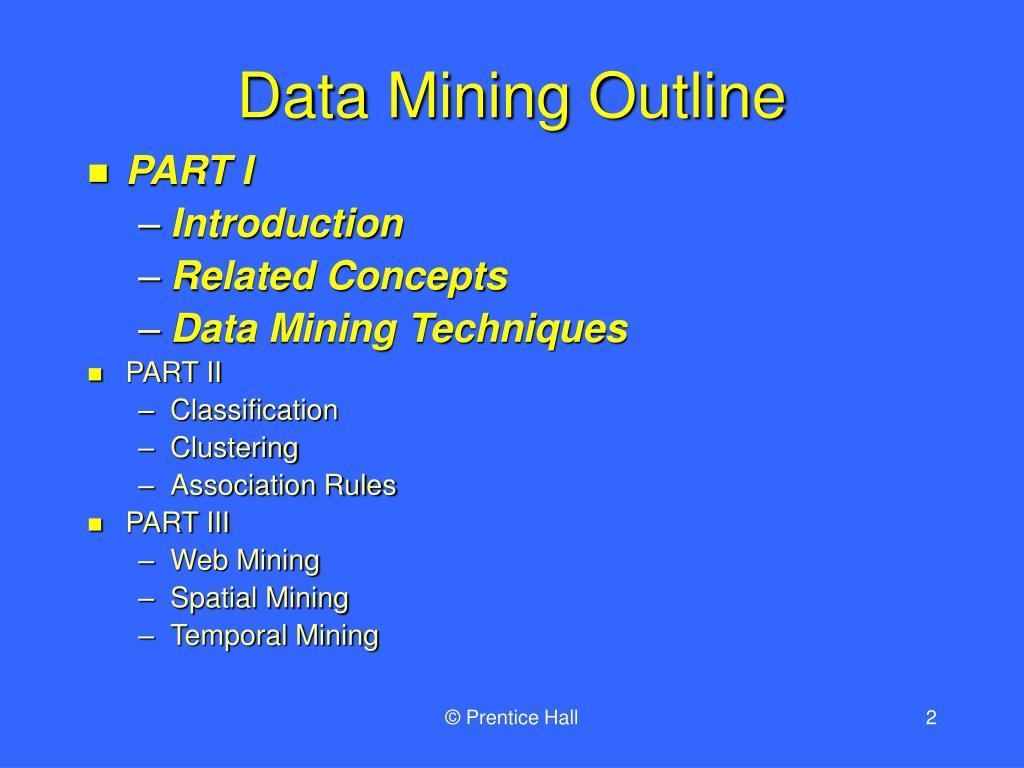 Data Mining Outline