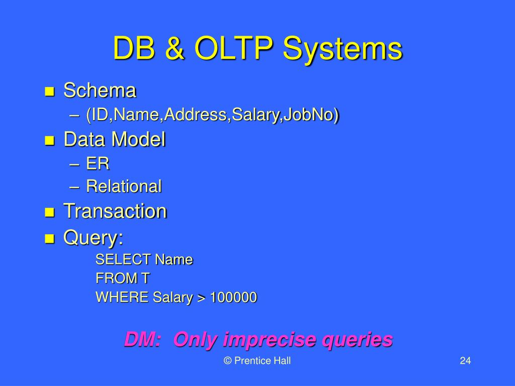 DB & OLTP Systems