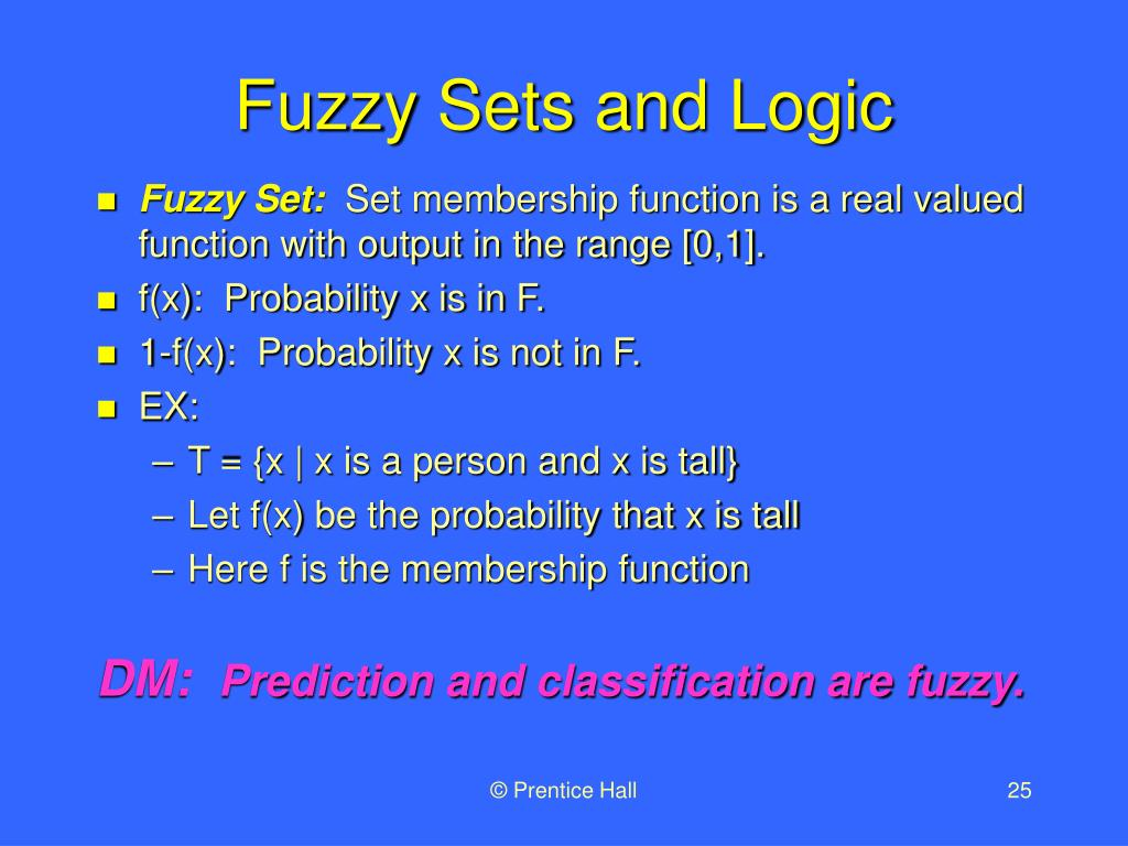 Fuzzy Sets and Logic