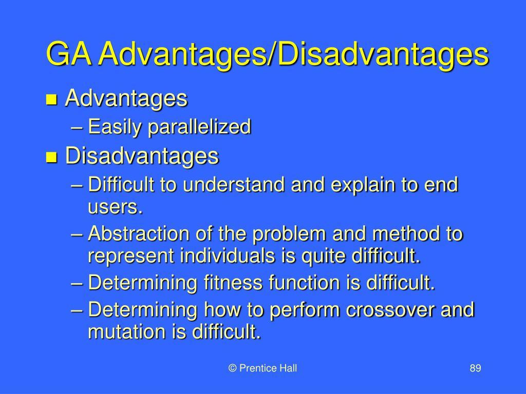 GA Advantages/Disadvantages