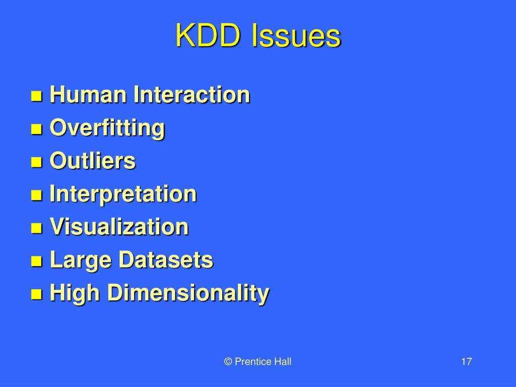 KDD Issues
