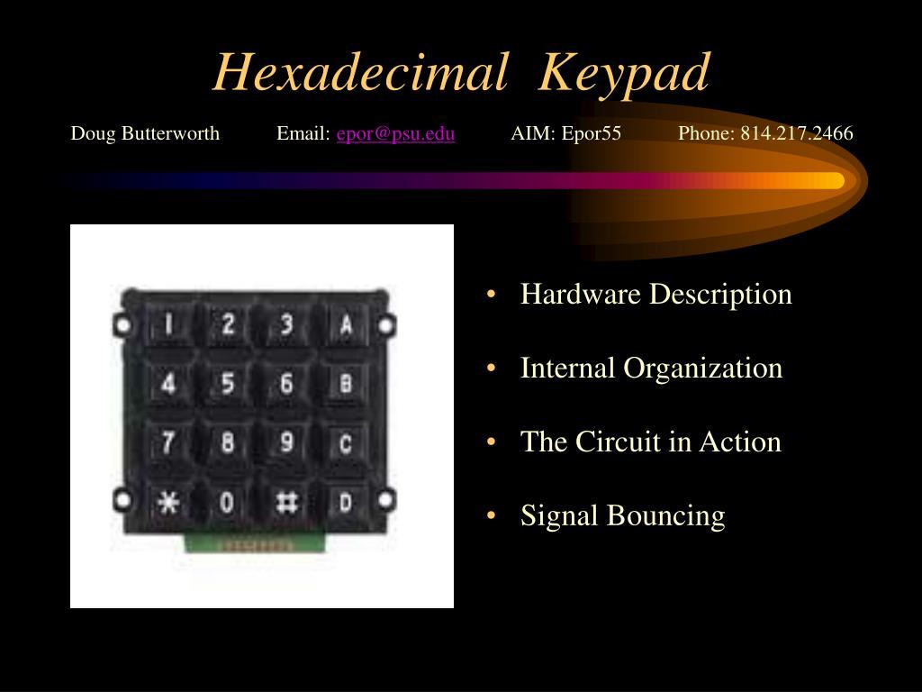 Hexadecimal  Keypad