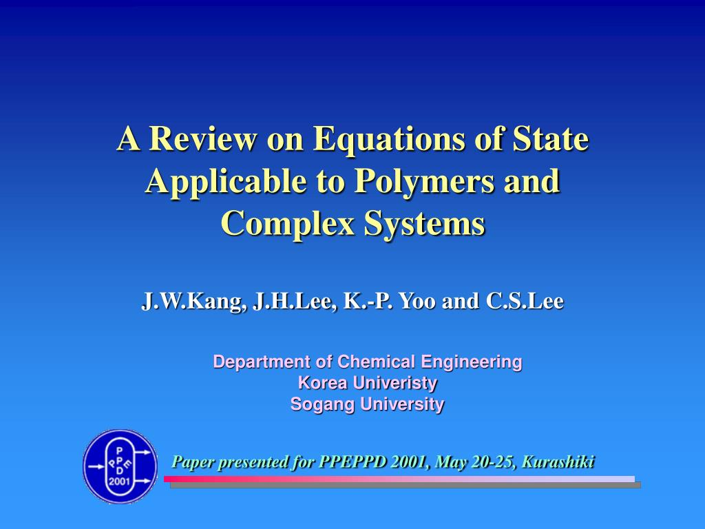 A Review on Equations of State