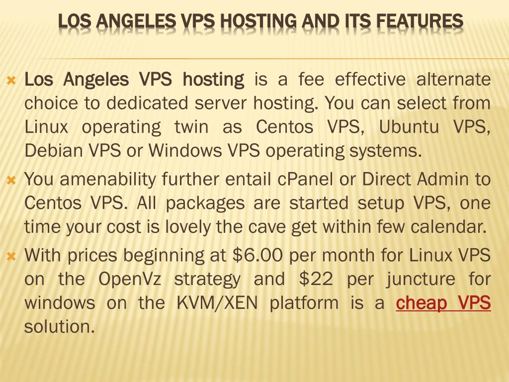 Los Angeles VPS hosting
