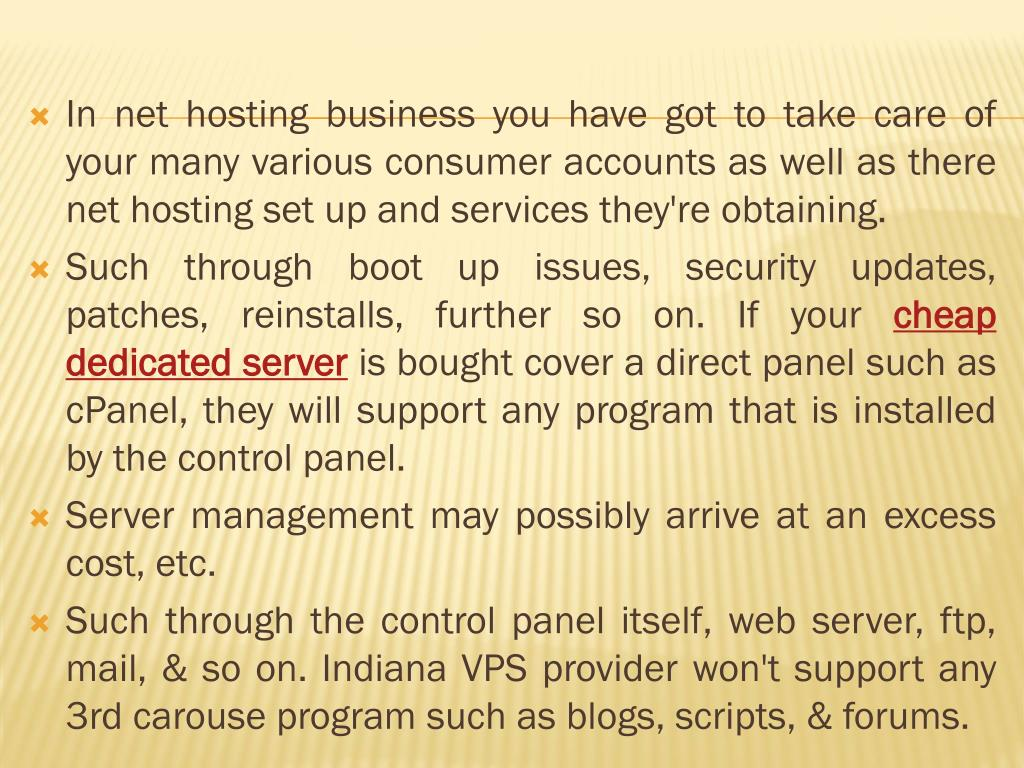 In net hosting business you have got to take care of your many various consumer accounts as well as there net hosting set up and services they're obtaining