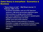 game theory is everywhere economics business