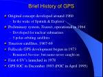 brief history of gps
