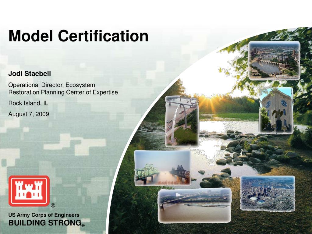 model certification l.