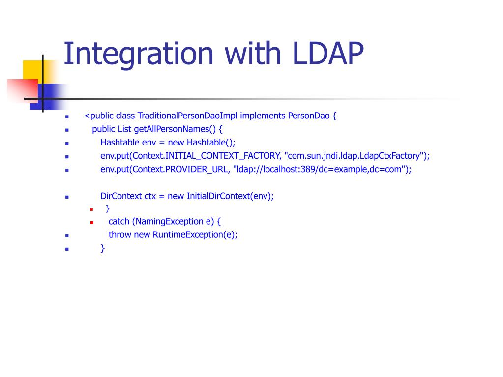 Integration with LDAP