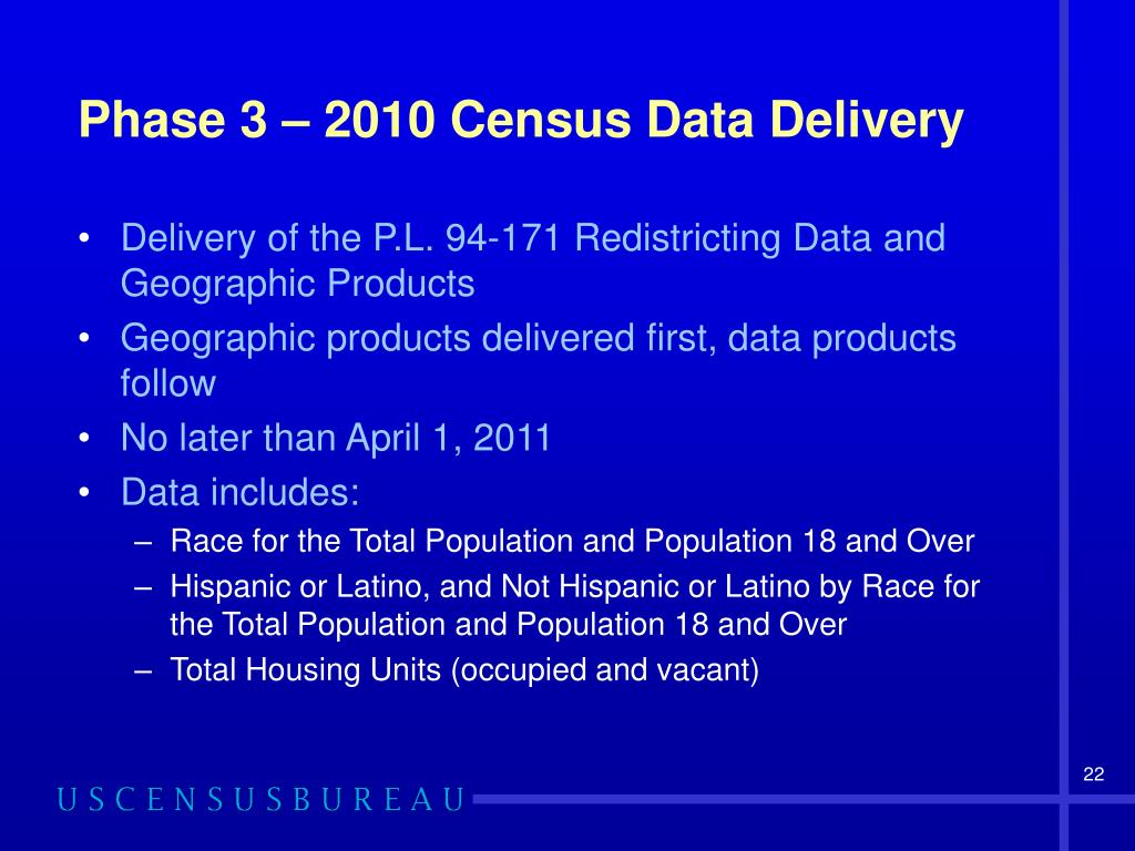 Phase 3 – 2010 Census Data Delivery