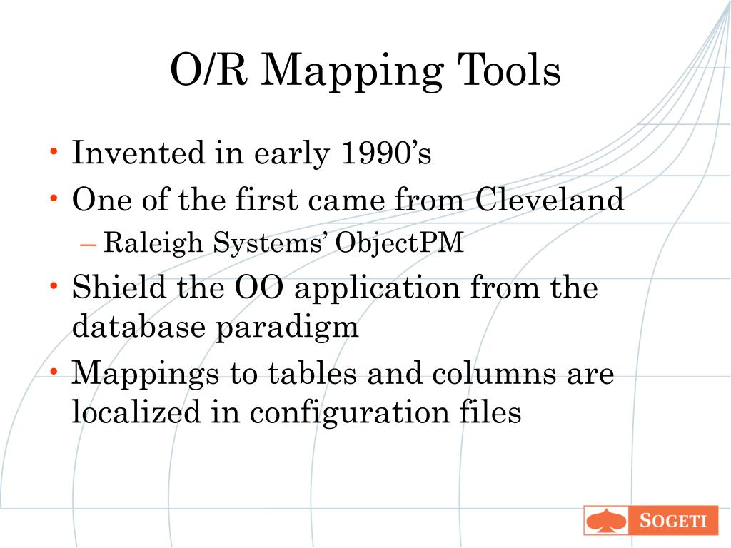 O/R Mapping Tools