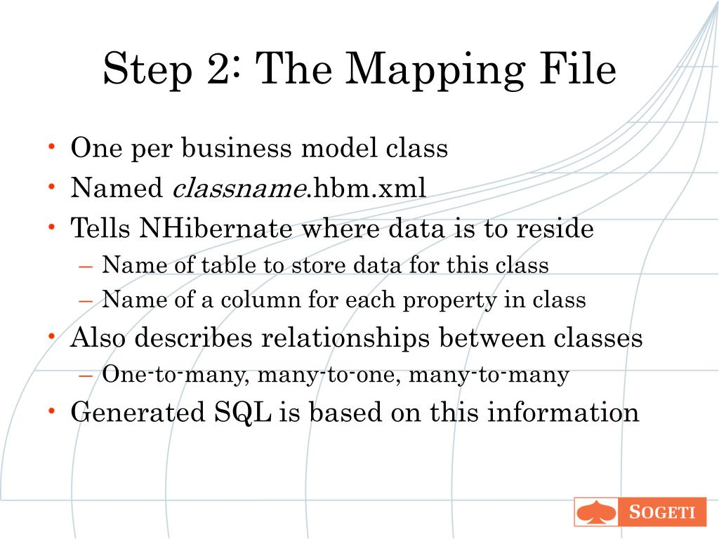 Step 2: The Mapping File
