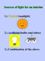 sources of light for an interior
