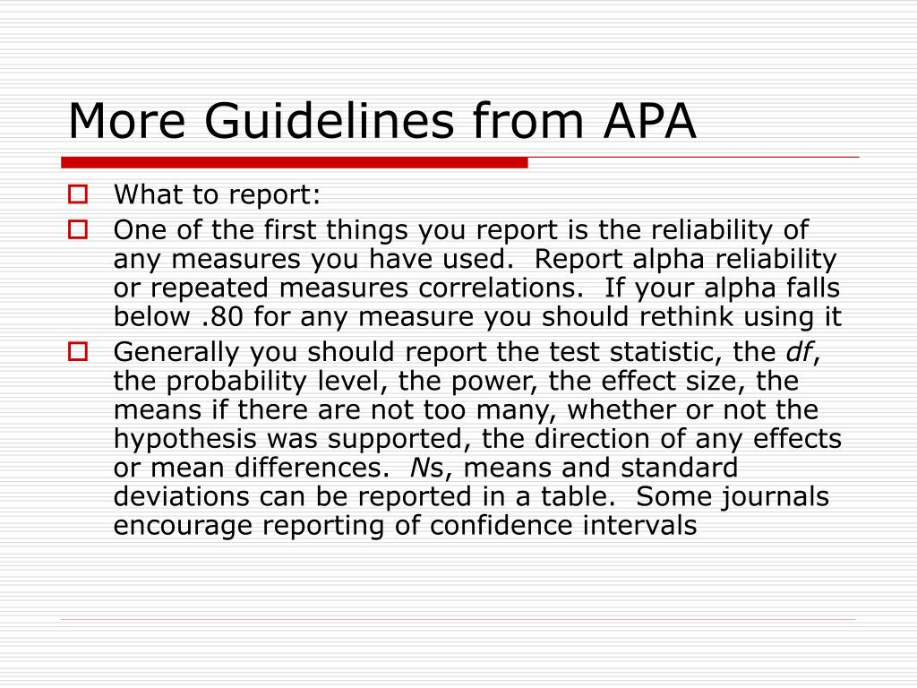 More Guidelines from APA