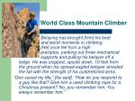 world class mountain climber