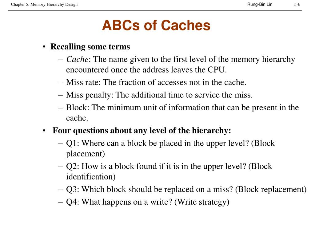 ABCs of Caches
