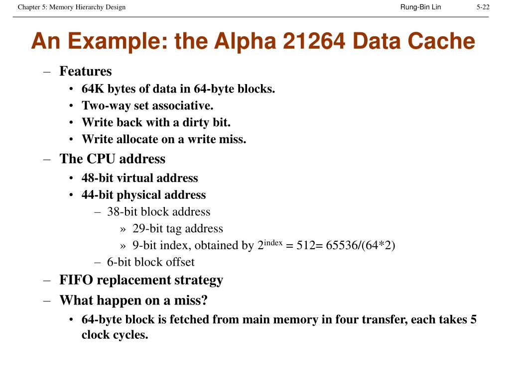 An Example: the Alpha 21264 Data Cache