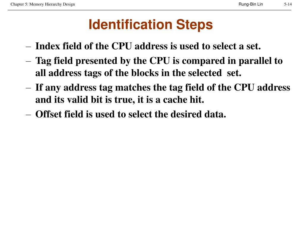 Identification Steps