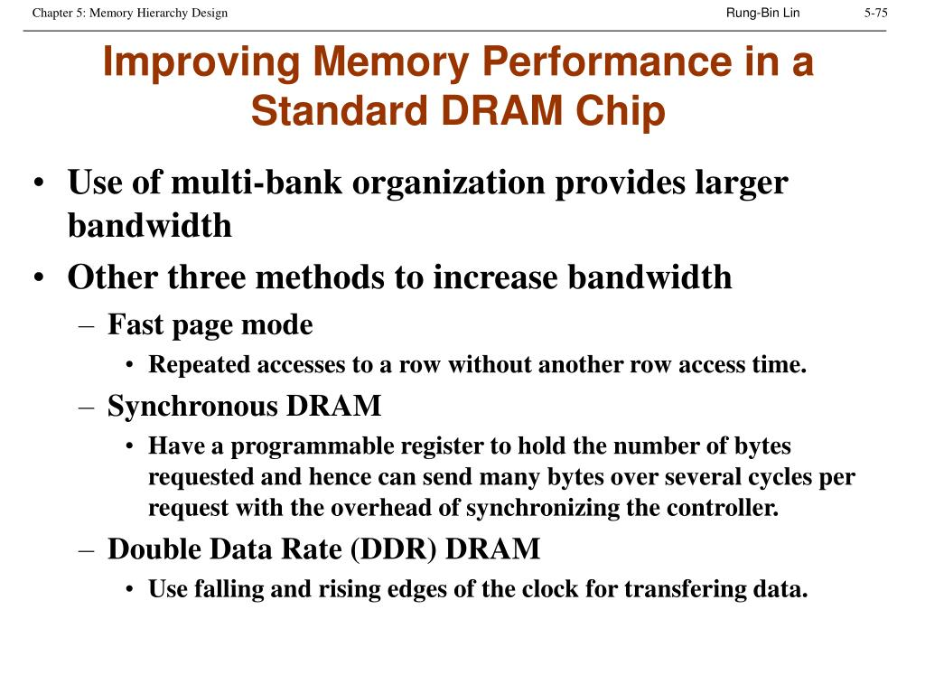 Improving Memory Performance in a Standard DRAM Chip