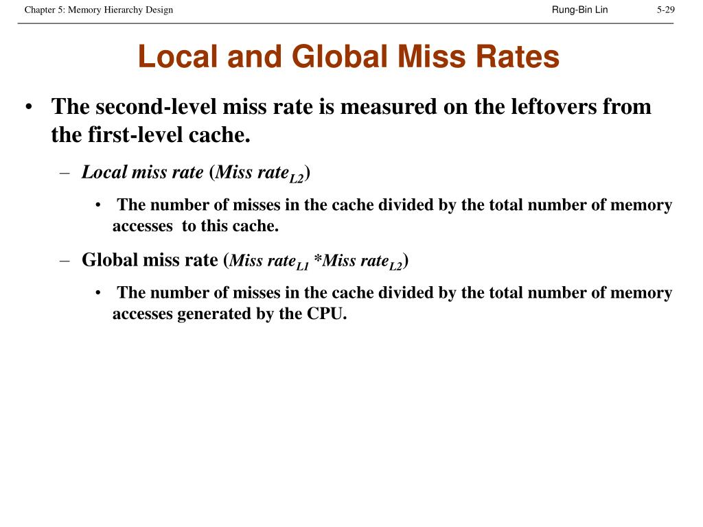 Local and Global Miss Rates