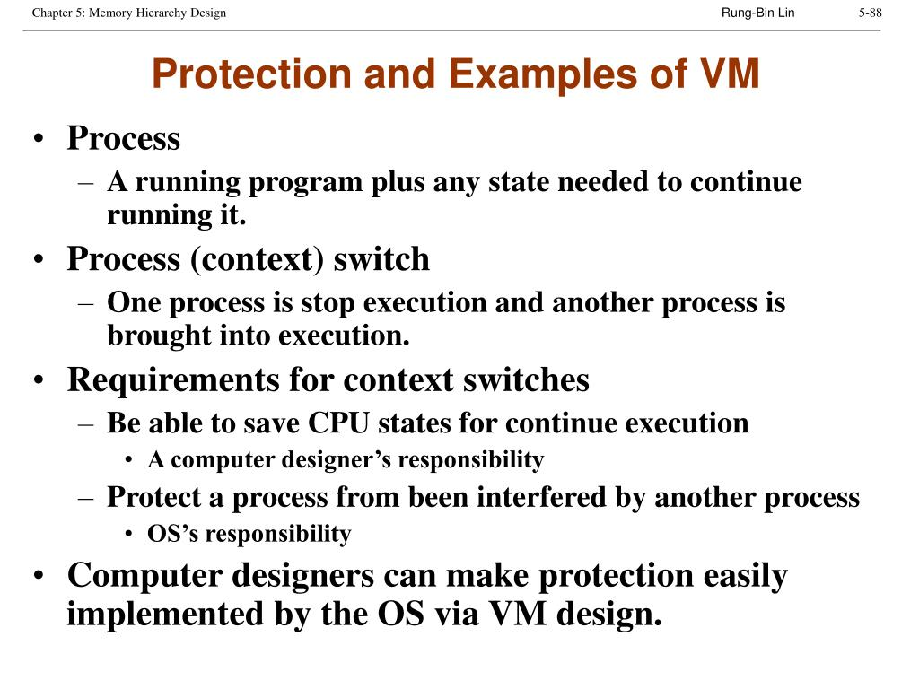 Protection and Examples of VM