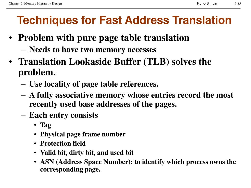 Techniques for Fast Address Translation