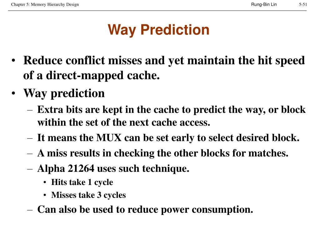 Way Prediction
