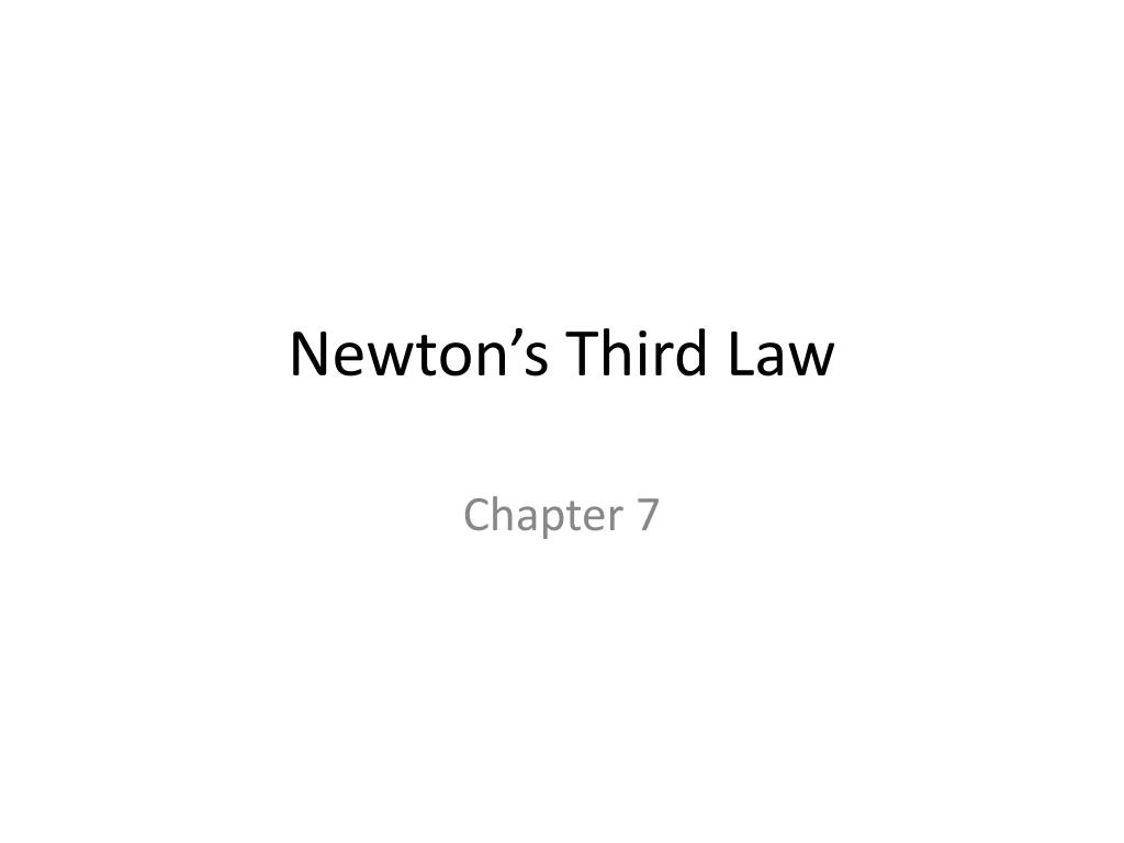 newton s third law l.