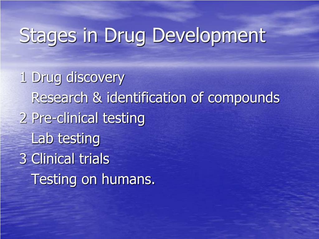 Stages in Drug Development