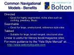 common navigational models benefits