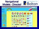 navigational models directed