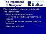 the importance of navigation